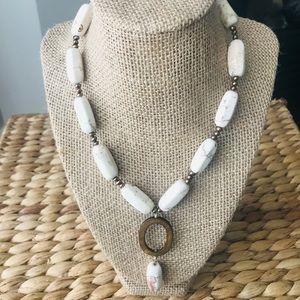 Handcrafted Jasper/ Mother-of-Pearl  Necklace